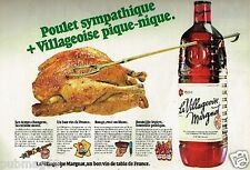 Publicité advertising 1980 Vin La Villageoise par Margnat