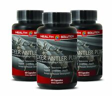 Aging Male Sexual Health Capsules - Deer Antler Plus 550mg - Velvet Spray 3B