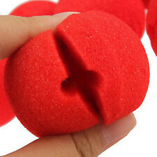 10pcs boule rouge de mousse Cirque Clown Nez Comic Halloween Costume magique