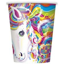 """RAINBOW MAJESTY"" LISA FRANK HORSE Birthday Party Supplies 9 oz Paper CUPS new"