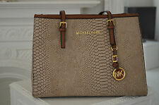 Great Look  - MICHAEL KORS - Genuine Tan Fake Snakeskin Croc Bag Handbag -