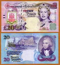 GIBRALTAR, 20 pounds, 2006, QEII, P-33, CV=$140, UNC