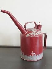 Vintage style red industrial oil can dispenser