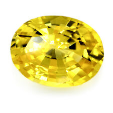 Certified Natural Ceylon Sapphire 1.25ct Yellow IF Clarity Flawless Oval Gem