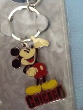 DISNEY STORE MICKEY MOUSE * CHICAGO *  KEY CHAIN  NOC GREAT FOR BACKPACKS TOO