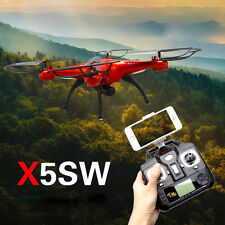 Red Syma X5SW/X5SW-1 Explorers-II FPV 2.4GHz RC Drone Quadcopter 2MP Wifi Cam