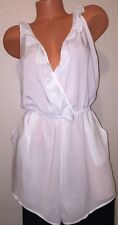 Victoria's Secret VS Ruffle Romper Swimsuit Cover Up, Large, Cream white