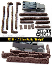"1/72 Sand Bag Walls Set #1 ""Straight"" - Value Gear War Gaming & Dioramas"