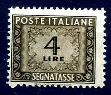 ITALIA 1947 - SEGNATASSE 4  Lire RUOTA NUOVO **