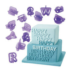 40 Stück Alphabet Buchstaben Zahlen Kuchenform Ziffer Ausstechform Kunststoff