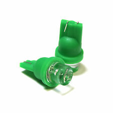 Green LED Wide Angle 'Trade' Side / Park Light Bulbs Upgrade Lamps
