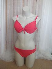 F&F Size 14 Ladies Pink 2 Piece Bikini Set NEW