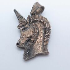 Sterling Silver Vintage Detailed Unicorn Horse Pendant 2.2g
