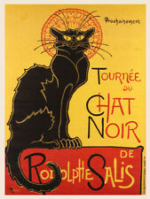 Retro Shabby Chic chat noir poster Metal Sign decorative tin wall door plaque
