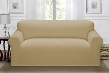 Madison Luxury Stretch Pique LOVESEAT Slipcover Waffle Textured Pattern Linen
