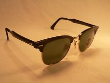 Ray-Ban Clubmaster Aluminum Sunglasses RB3507 Black Gold Trim / Green