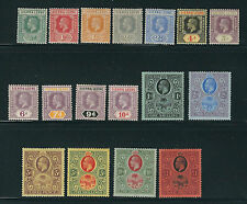 SIERRA LEONE 1912-24 KGV (Scott 103-119 complete to one pound) F/VF MH