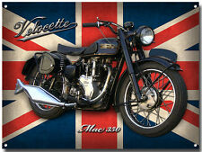 VELOCETTE MAC 350 MOTORCYCLE ENAMELLED METAL SIGN.VINTAGE BRITISH MOTORCYCLE