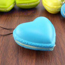 5.5cm Yummy French Macaroon Soft Squishy phone Charm Colorful Heart Bread Straps
