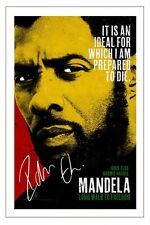 IDRIS ELBA AUTOGRAPH SIGNED PHOTO PRINT NELSON MANDELA LONG WALK TO FREEDOM