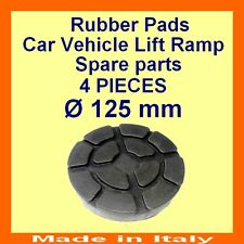 Set de 4 pads Ravaglioli 2 poste voiture ascenseur rampe de levage coussinets en caoutchouc -125 mm-Made in Italy -