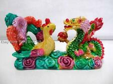Protection Love Charm Chinese Oriental Feng Shui LUCKY Dragon Phoenix Figurine