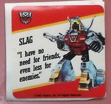 """G1 SLAG sticker 1985 Transformers Action Cards """"no....friends"""" CHEAPEST ON EBAY!"""