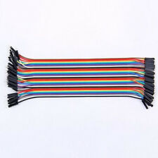 2016 Wire for Arduino Breadboard Jumper 40Pcs 20cm Dupont Male to Female Cable