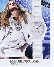 PUBLICITE ADVERTISING 094 2010 EMPORIO ARMANI montre