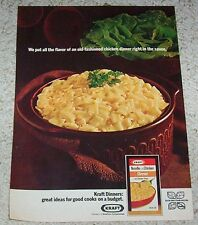1971 ad page - Kraft Foods Noodle Chicken Dinner -on a budget- VINTAGE print AD