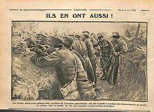 Soldiers of Serbia Trenches Soldats de Serbie dans les Tranchées Poilus WWI 1915