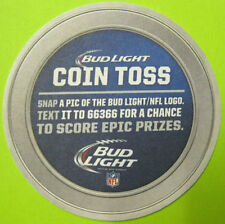BUD LIGHT COIN TOSS, NFL Football LOGOS Beer COASTER, Mat, MISSOURI, 2015 issue