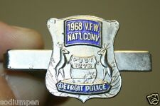 WOW Vintage Detroit Police 1968 VFW Post 1278 National Conference Tie Clasp Tack