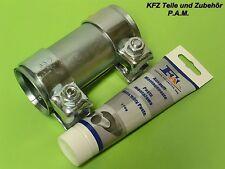 Morsetto di scarico 50-54,5 x 125 mm Morsetto doppio connettore per tubi con pasta di montaggio