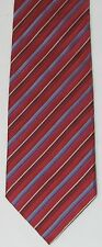 VITALANO PANCALDI Bold Red Blue Men's Silk Neck Tie Neckwear Tie