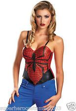 The Amazing Spider-Man Spider-Girl Bustier Corset Small Size 4-6 Brand New 59789