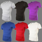 Mens Compression Base Under Layer Tops Sport Gym Short Sleeve T-Shirt Tights Tee