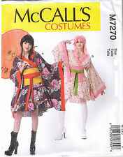Easy Geisha Girl Kimono Top Skirt Obi Belt Costume Sewing Pattern 4 6 8 10 12