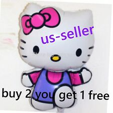 US SELLER Hello Kitty  PURPLE  Super Shape Mylar Foil Balloon Party Decoration