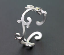 925 Sterling Silver -  Fashion Vine Irreggularity Pageant Lady Open Ring Size 6