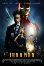 IRON MAN MOVIE POSTER Double Sided ORIGINAL RARE INTL 27x40 ROBERT DOWNEY JR.