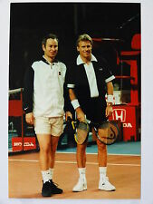 colour 6 x 4  PHOTO  John McEnroe and Björn Borg