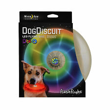 Nite Ize Flashflight Dog Discuit LED Light-Up Flying Disc Disco Fetch Frisbee