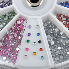 3600pcs Nail Art 1.5mm Rhinestones Glitter Decoration 3D Tips Diamond Gem Wheel