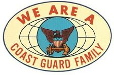 US Coast Guard  Family   Vintage-Looking  Travel Decal