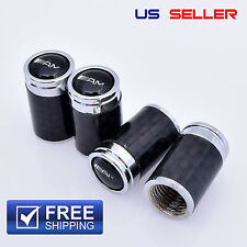 CARBON FIBER AMG MERCEDES-BENZ VALVE STEM CAPS WHEEL TIRE BLACK - US SELLER VC11