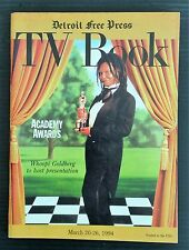 Detroit Free Press TV Book March 20 - 26, 1994 - Whoopi Goldberg Academy Awards