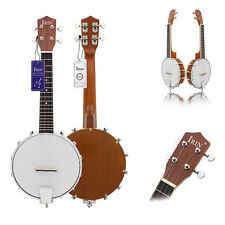 4-string Banjo Exquisite Professional Sapelli Notopleura Wood Alloy Instrument