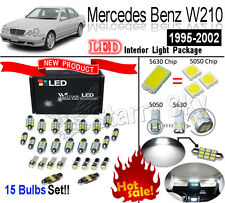 15 Bulbs Set Xenon White LED Interior Light Kit For Mercedes Benz E-Class W210