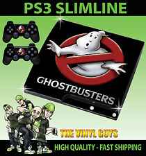 PLAYSTATION ps3 SLIM Adesivo Ghost BUSTERS LOGO GHOSTBUSTERS Pelle + PAD Pelle